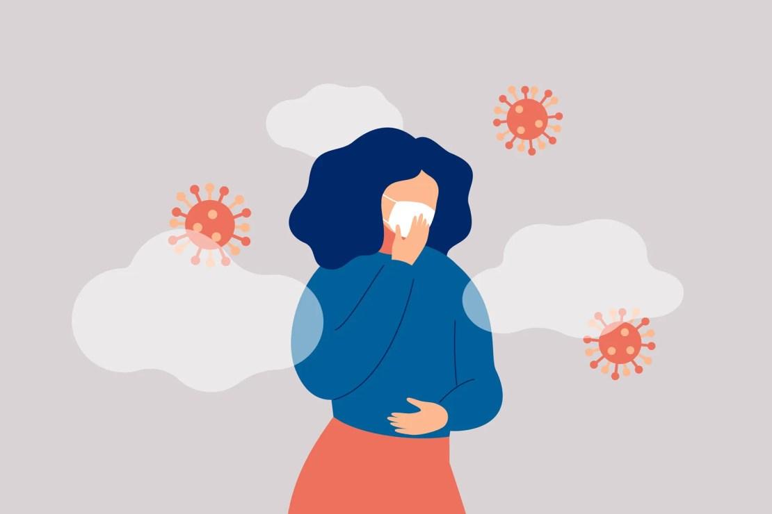 woman covid illustration
