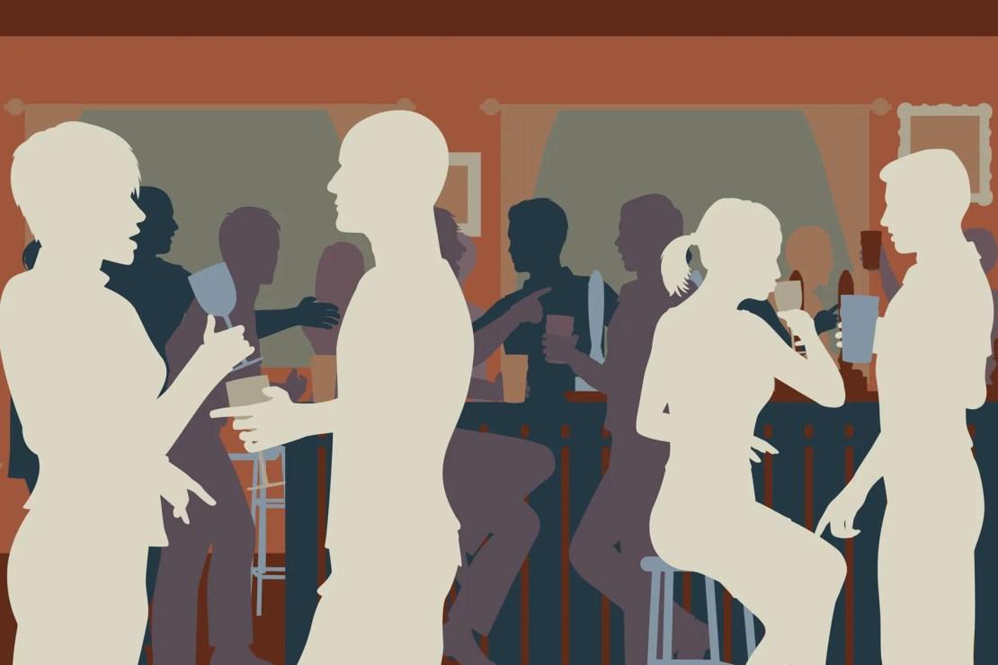 Busy restaurant illustration