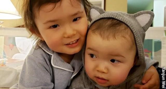 photo of quarantined children