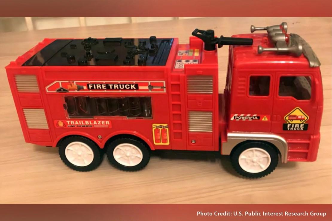 trouble in toyland fire truck