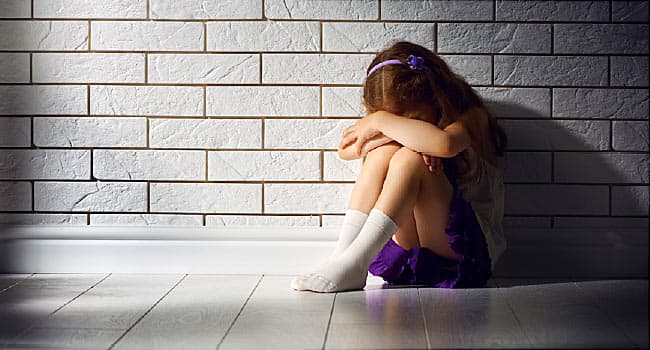 sad young girl alone