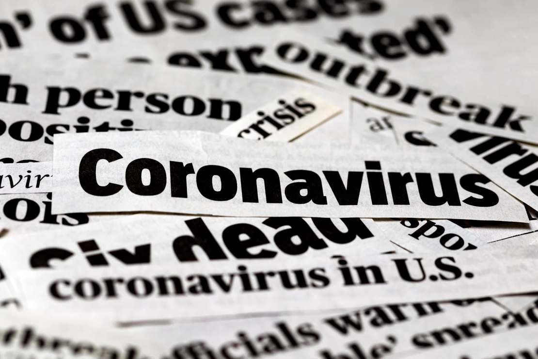 photo of coronavirus headlines