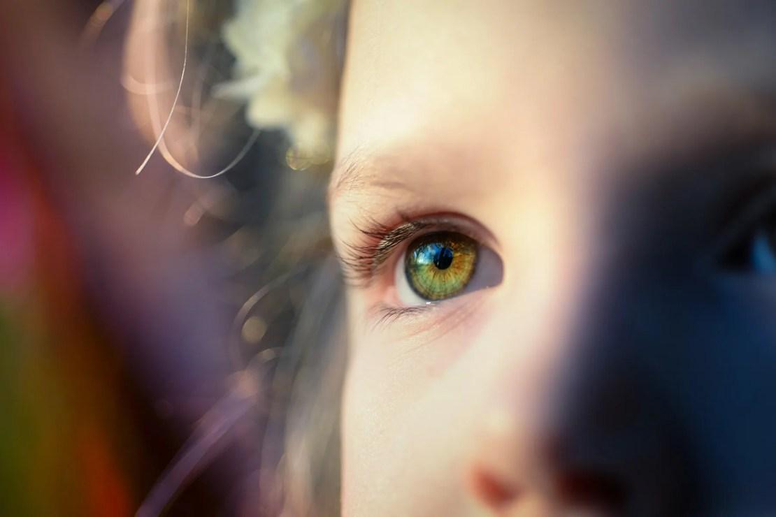 eye of child