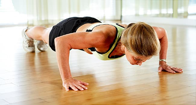Image of a woman exercising