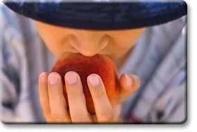 Biting a Peach