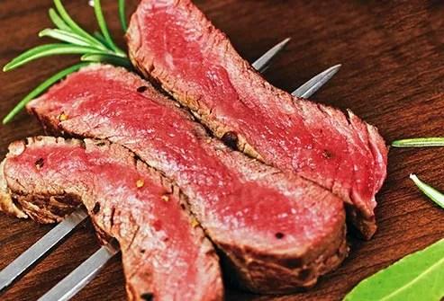 grilled steak sliced