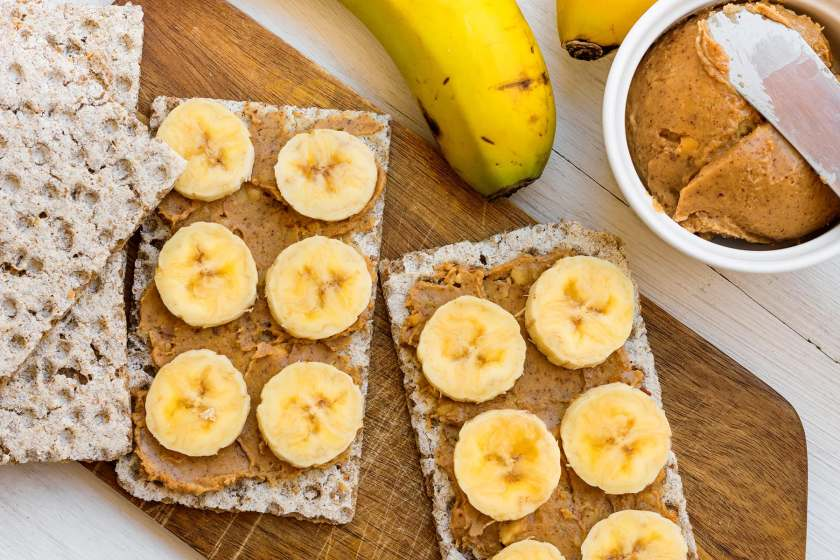 peanut butter and banana crackers