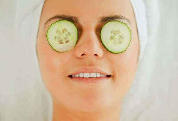 Image result for Use of cucumber for eye bags