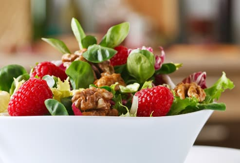 salad with fresh fruit and nuts