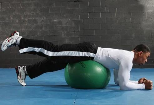 Leg Lift with Ball