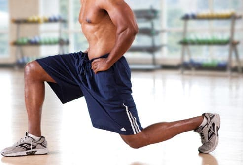 man doing lunges