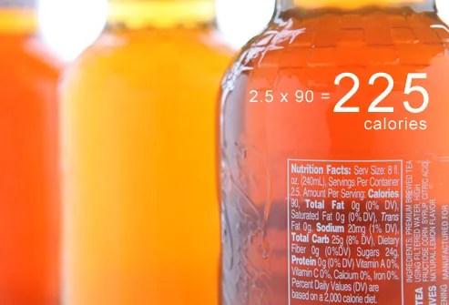 Row of Iced Tea Bottles