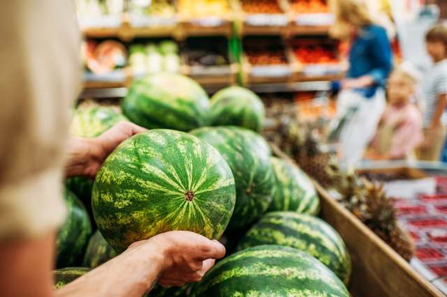 shopping for watermelon