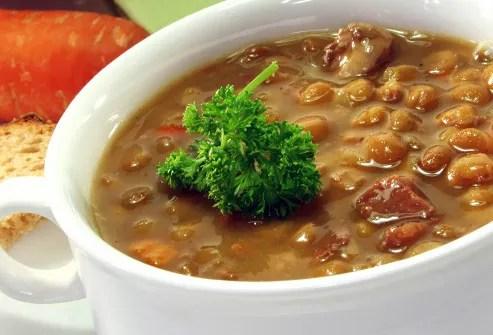 bowl of lentil stew