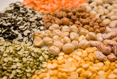 Dried beans and lentils