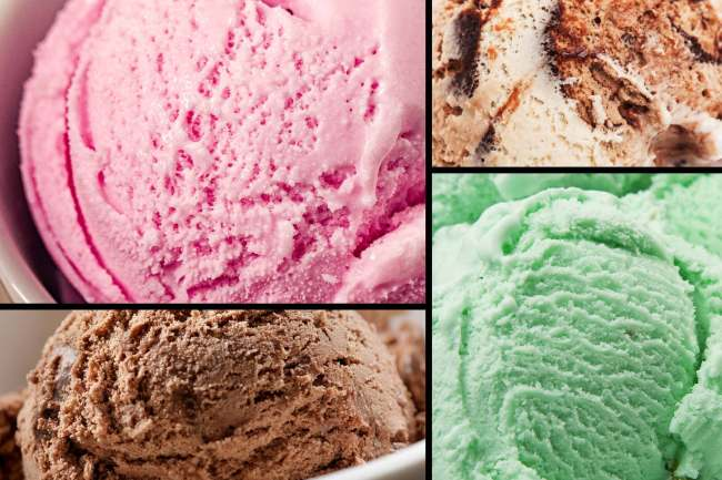 photo of ice cream flavors