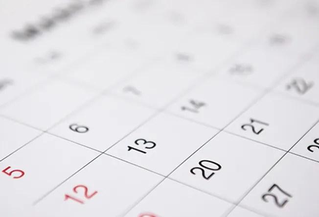 calendar close up
