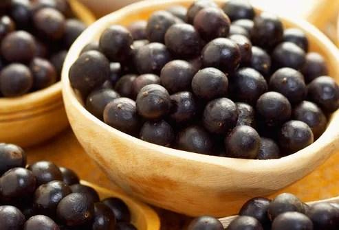 Bowl of Acai Berries