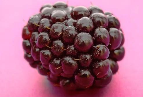 close up of blackberry