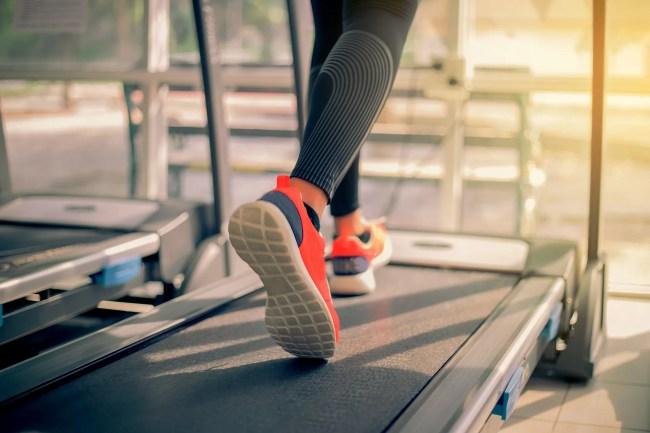photo of woman on treadmill
