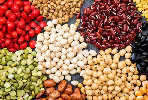 assorted beans and lentils