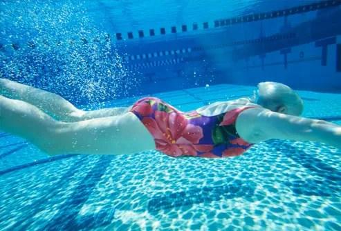 Older Woman Swimming