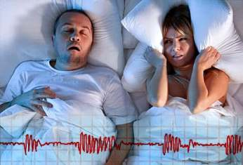 istock rf photo of man snoring next to aggravated wife - SLEEP APNEA: Introspect, Side Effect, and Solution