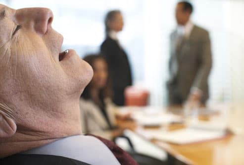 Business Man With Narcolepsy