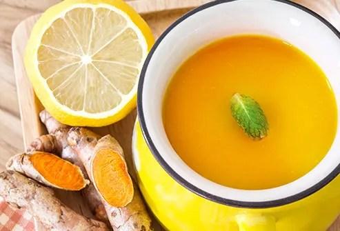 cup of turmeric tea