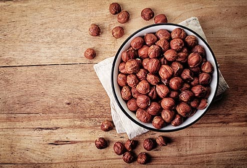 hazelnuts in a bowl