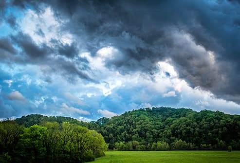 storm clouds approaching