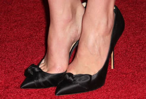 Uncomfortable pointy toed shoes