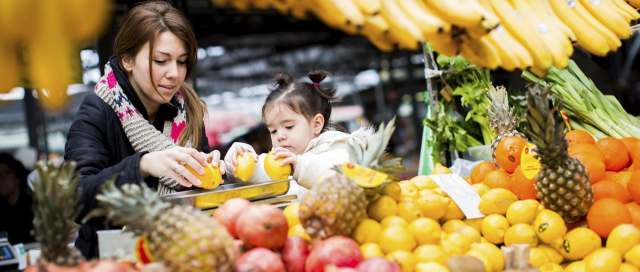 Image result for child and parent eat healthy food