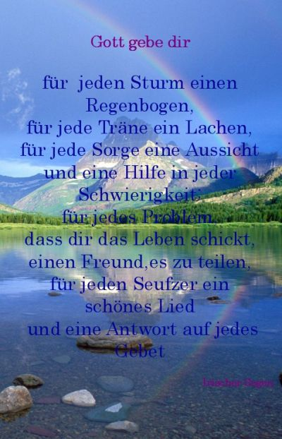 Gott Gebe Dir Fur Jeden Sturm Einen Regenbogen Stempel Gott Gebe Dir