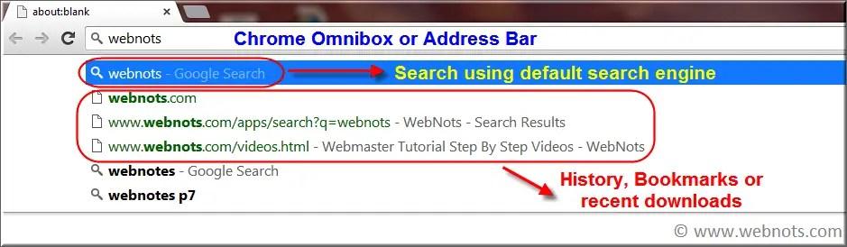 Поиск омнибокса Google Chrome