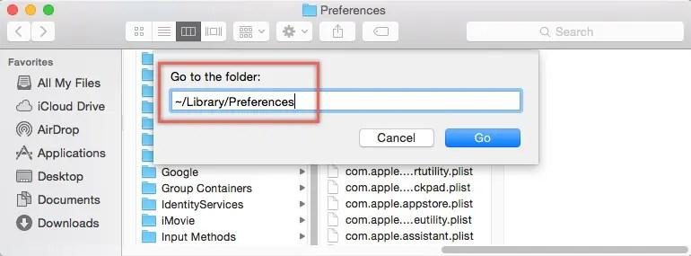Удалить файл настроек Safari