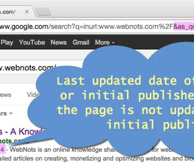 Finding Last Updated Date From Google