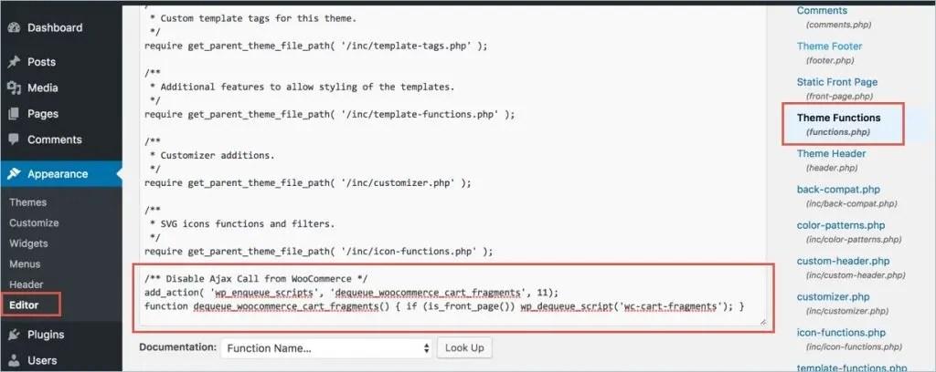 Изменение PHP-файла функций темы