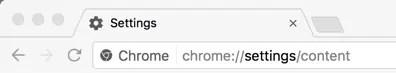 Откройте настройки содержимого Chrome