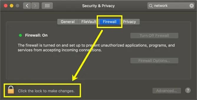 Разблокировать настройки в Mac