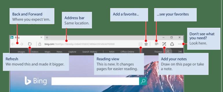 Макет браузера Microsoft Edge