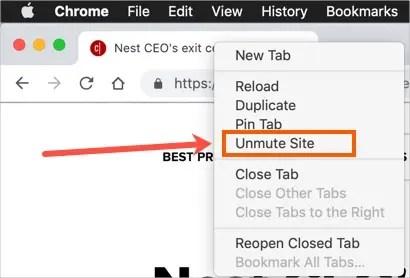Включить звук на сайте в Chrome