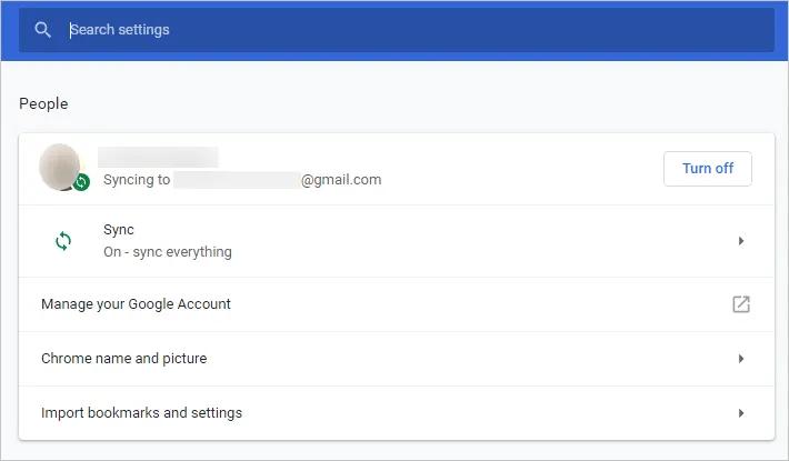 Настройки Chrome