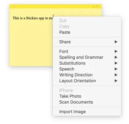 Настроить приложение Stickies на Mac