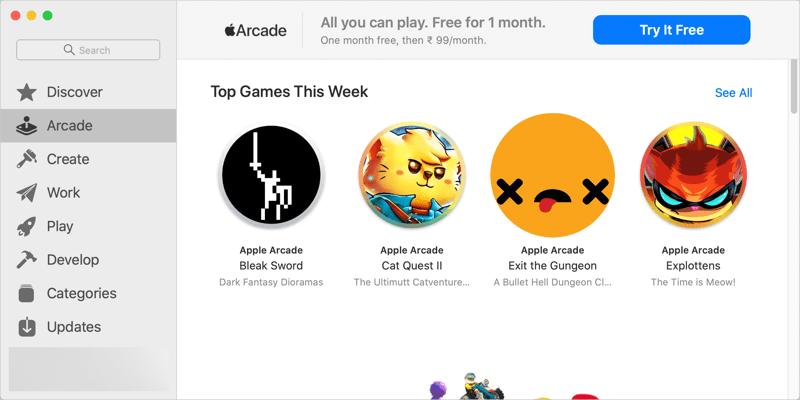 Apple Аркадные игры