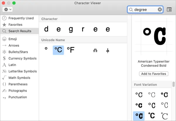 How To Type Degree Symbol In Windows And Mac Webnots