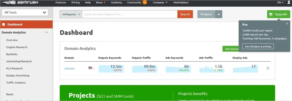 Semrush_Backlink Checker Tool