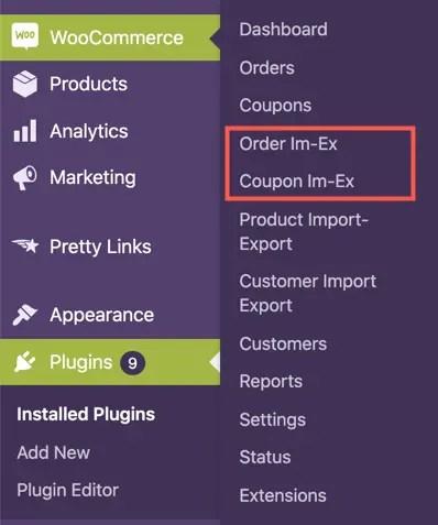 Экспорт заказов WooCommerce
