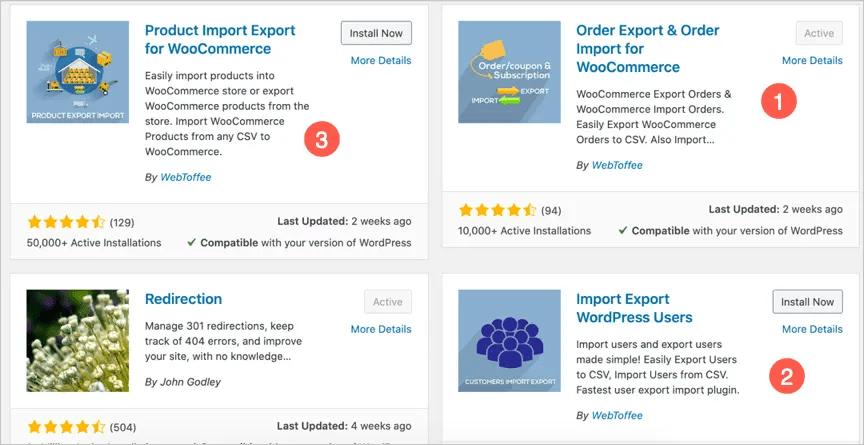 Плагины импорта и экспорта WooCommerce