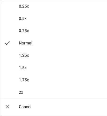 Изменить скорость воспроизведения видео